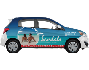 Car Wrap for Sandals