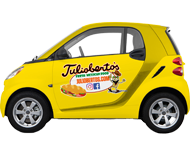 Car Wrap for Tuliobertos Mexican Food