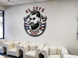 Wall Mural for El Jefe Barbershop