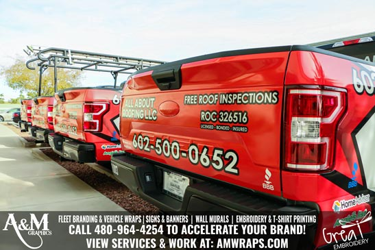 All About Roofing Truck Wrap Surprise AZ